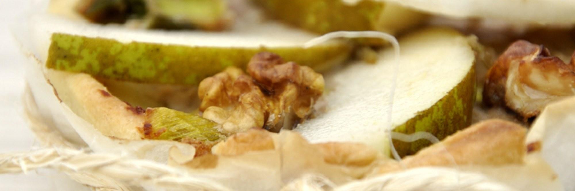 Prei-perentaart met natto
