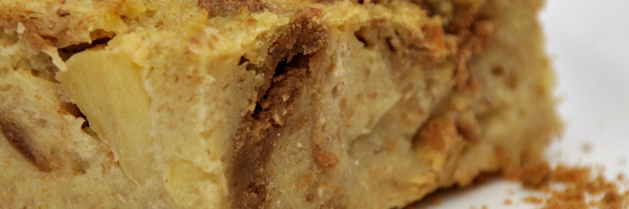 Pudding au pain à la pomme et au spéculoos