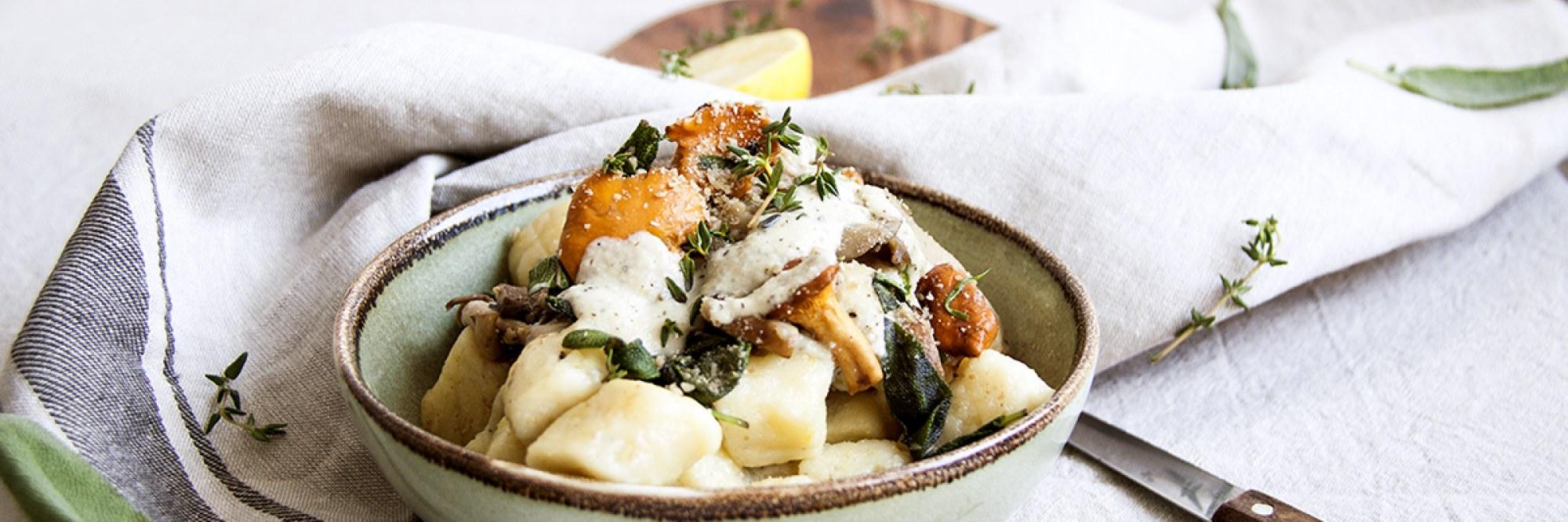 Gnocchi champignons saison sauge veggie végétarien