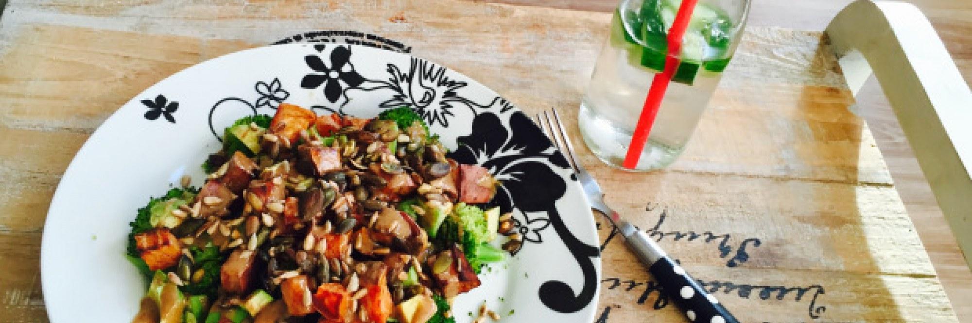 Salade tiède aux patates douces