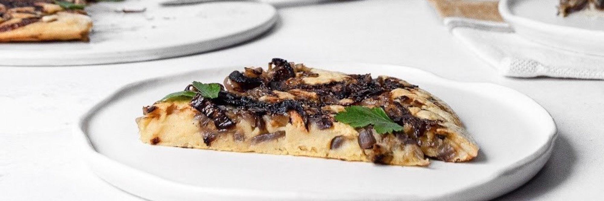 Plantaardige omelet met ui - Luna Trapani