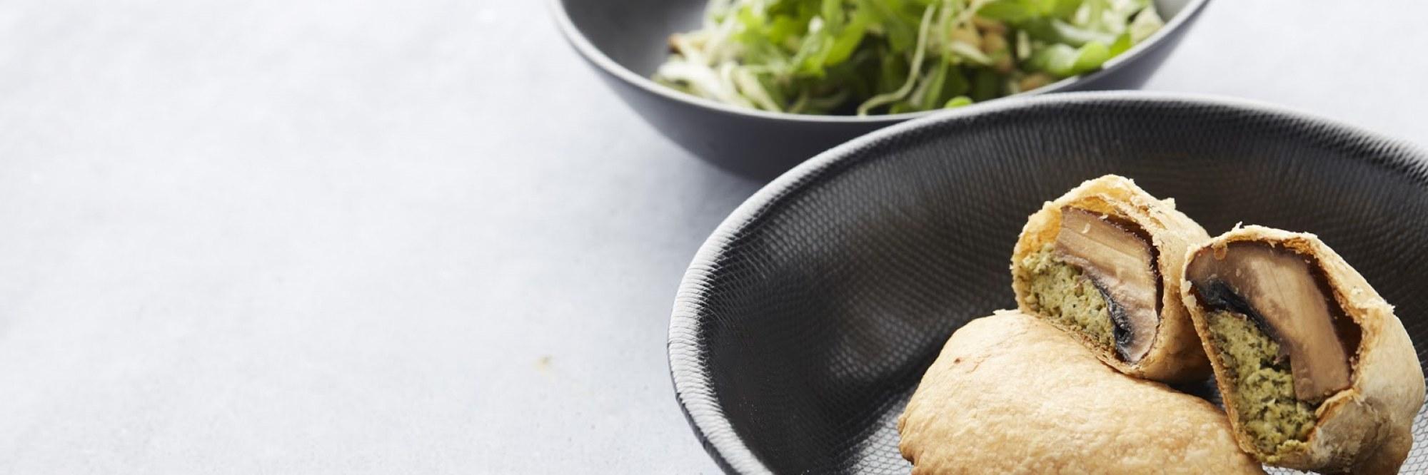 Portobellopasteitjes met tofupesto