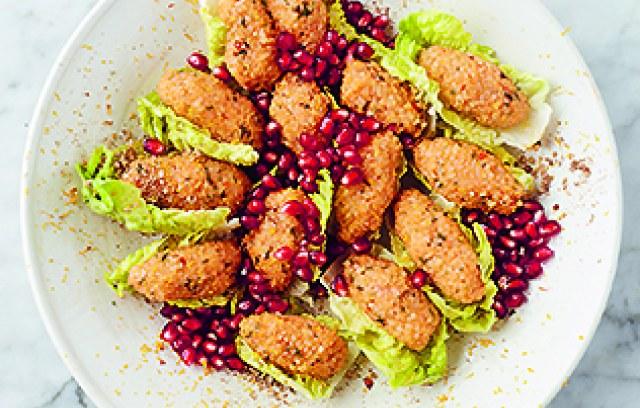 Seppe Nobels - Krokante sla met veggietartaar en granaatappel