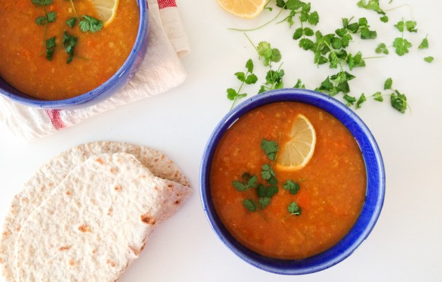 Dahl de lentilles corail aux carottes Be Vegan