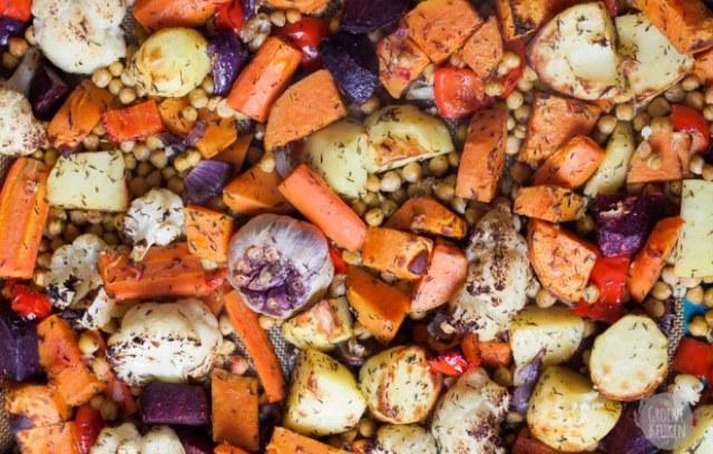 Légumes au four et boulghour