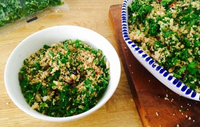 Salade de couscous au chou kale